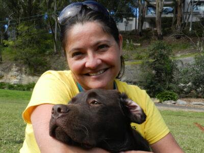 Gina and puppy Harley